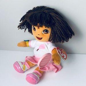 TY Beanie Dora the Explorer Pink Tennis Racquet